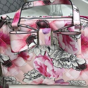 Just in-Outstanding Betsey Johnson Floral/Bow Bag